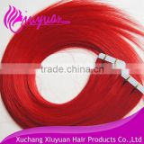 Directly Factory Price Super Tape Remy brazilian hair tape in extension red brazilian hair weave