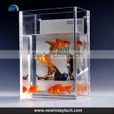 OEM china big high quality strong and safe square Acrylic fish tank, floor acrylic Fish tank