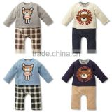 Baby boys wear Spring bodysuit/ fashion boys jumpsuit/long sleeve animal printed baby clothes 2016