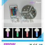 New round rechargeable multi-color uplighter led light base