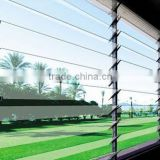 Good Design aluminum framed glass louvre window with high quality