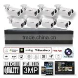 LS VISION plug and play waterproof bullet camera security home camera megapixel 8 cameras cctv system