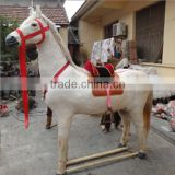 Inquiry about garden ornaments plush fake life size ride on horse toy pony