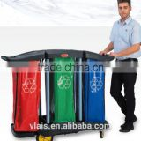 Hotel housekeeping maid cart trolley, cleaning service trolley