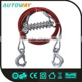 8MM S Shape Hook Steel Wire Elastic Tow Rope With Hook