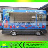 Mobile Food Cart With Frozen Yogurt Machine Wood Tricycle