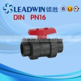 100% Raw Material PVC Water Valve/PVC Two Pieces Ball Valve