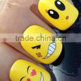 NAIL ART WRAP WATER TRANSFER DECALS STICKERS DECORATION SET EMOJI SMILEYS