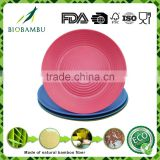 Reusable Degradable Grateful bamboo fiber plates with low price