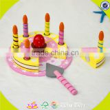 wholesale baby wooden birthday cake toy beautiful kids wooden birthday cake toy children wooden birthday cake toy W10B116