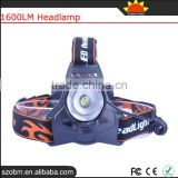 XQ41T6 T6 LED 1600lm Headlamp Power Camping Head Light Head Flashlight For Wholesale
