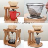 Handmade wooden coffee server/coffee dripper for wholsale
