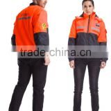 2015 New OEM Anti static work Uniform one piece water proof jacket fire-fighting protection safty set clothes high Quality