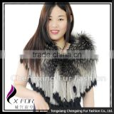 CX-B-60B In Stock Item Charming Evening Dress Raccoon Fur Shawl