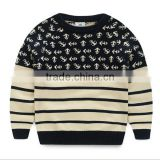 Children's Autumn And Winter Clothing Baby Stripe Sweater Boys Child Pullover Sweater