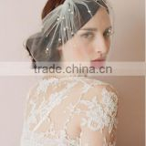 2016 Hot Sale Birdcage Net Wedding Bridal Fascinator Face Veils pearl beaded with Hairpins bridal birdcage veil