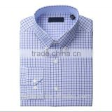 China shirt supplier customise high quality machine cleaning button down collar plaid shirt