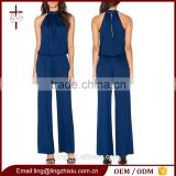 Clothing apparel european style custom made fashion one piece ladies jumpsuit