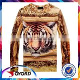 China customized women polyester promotional t shirt with tiger pattern