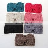 Knit Big Bow Winter Hairband