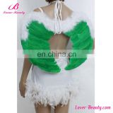 Lovely praty small feather green angel wings for crafts
