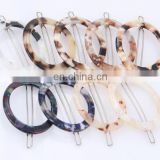 New Style Fashion Colors Circle Acetate Hair Clip For Women