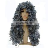 MCW-0374 Party Masquerade synthetic long women Hot curly gray wig