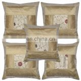 Pillow Cover Indian Brocade Decor Silk Pillow Cover Embroidered Cushion Cases Covers Pillow Case Throw wholesale