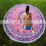 Hippie Indian Mandala Roundie Round Towel Throw Tapestry Beach Yoga Mat Bohemian BEACH THROWS