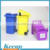 Personalized logo print garbage can shape silicone pen holder
