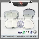 Hot Selling Cheap 2 Space Type Custom Country Style Epoxy Type Small Portable Jewelry Box With Mirror