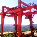 construction crane electric double girder gantry crane