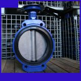 DN100 marine wafer butterfly valve with NPT thread