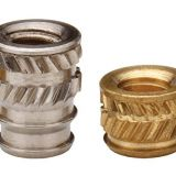 IUB-M2.5-1/2 Tapered Thru Threaded Inserts-Types IUA IUB IUC-Metric Brass Nature PEM Std Knurled Nuts Factory Wholesale