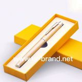 High-End Yellow Color Cardboard Gift Pen Box Pen Display Box For Packaging Business