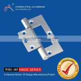 OEM custom iron steel brass aluminum finished metal stamping aluminum hinge for window aluminum window parts hinges