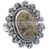 PYRITE DRUZY RING 925 SOLID STERLING,SILVER EXPORTER,STERLING SILVER JEWELRY,SILVER RING,WHOLESALE SILVER JEWELRY