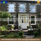 Natural black exterior decoration stone split slate wall covering panel                                                                                                         Supplier's Choice