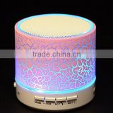 LED colorful lighting light mini portable wireless bluetooth speaker with TF card USB flash FM radio                                                                                                         Supplier's Choice