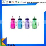 double wall plastic drinking cup with handle/plastic cup with lid/tube cup                                                                         Quality Choice