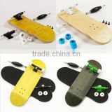 Various colors Bearing Wheels & Wooden Canadian Maple Deck Fingerboard blank skateboard 30 and 32mm wide