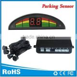4 rear sensors Automatic parking alert sensor with 3 color LED display and Bibi sound alert
