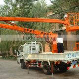 15m One Man Telescopic Mini Boom Lift Axle For Trailers