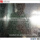 Pattern Etching stainless steel sheet for wall panel 4x8 plate                                                                                                         Supplier's Choice