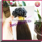 100% Indian cheap virgin remy human keratin hair extension pr-bonded flat tip keratin tipped human hair extension