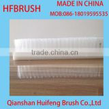 White nylon flat brush