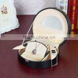 Shell Shape Leather box for Jewelry with hanlde, Cheap Jewellery Box,gift box for travel suit