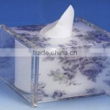custom clear printed fabric acrylic tissue box holder acrylic toilet paper holder