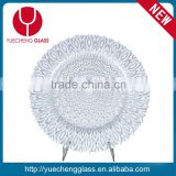hot sale wedding silver beads glass charger plates                                                                         Quality Choice