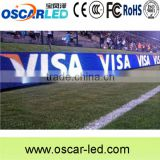 Football/soccer/baseball field fast lock and support bar led display